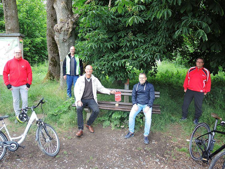 SPD-Ortsvereine trafen sich zu einen gemeinsamen Schnatgang am Eisernen Herrgott